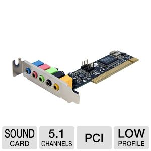 StarTech.com PCISOUND5LP 5-Channel Low Profile PCI