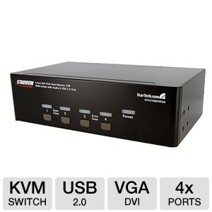 Startech 4-port Dual Monitor KVM Switch