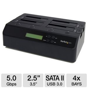 StarTech 1:3 SATA II to USB3.0 HDD Duplicator Dock