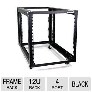StarTech 4POSTRACK12A 12U 4-Post Open Frame Rack