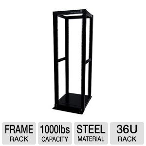 StarTech 36U 4-Post Open Frame Rack