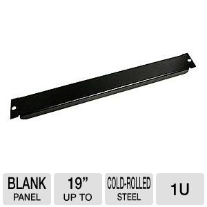 StarTech.com 1U Rack Blank Panel for 19in Server
