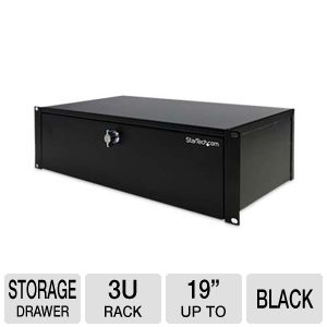 StarTech.com 3U 9in Deep RackMount Locking Storage