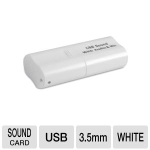 StarTech ICUSBAUDIO USB 2.0 to Audio Adapter