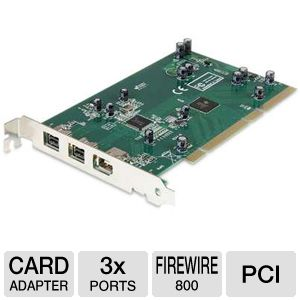 StarTech PCI1394B_3 3-Port FireWire-800 PCI Card