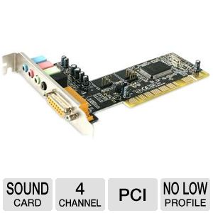 StarTech 4 Channel PCI Sound Card