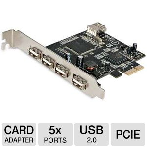 StarTech PEX400USB2 4-Port USB 2.0 PCI-E Card