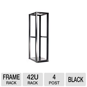 StarTech 42U 4 Post Open Frame Rack
