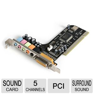 StarTech 5 Channel PCI Sound Adapter Card