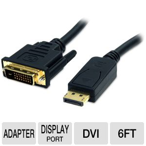 StarTech.com DisplayPort to DVI Cable - DP2DVI2MM6