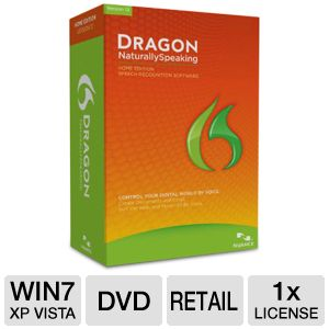 Nuance Dragon Naturally Speaking Home 12 Software 