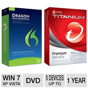Nuance Dragon Naturally Speaking Software Bundle