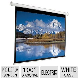 "Mustang 100"" Diag. 4:3 Electric Projection Screen"