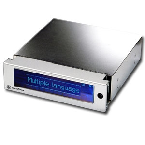 Silverstone MFP51 Silver Alum Front Panel LCD