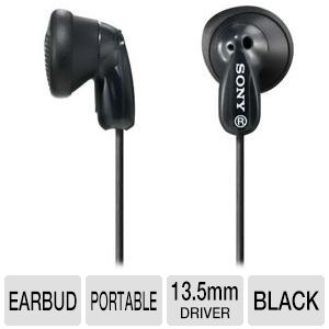 Sony MDRE9LP/BLK Fashion Earbud Headphones