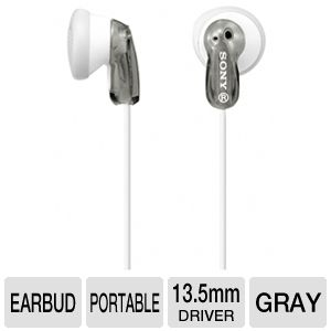 Sony MDRE9LP/GRAY Fashion Earbud Headphones