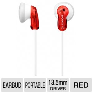 Sony MDRE9LP/RED Fashion Earbud Headphones