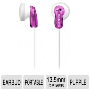Sony MDRE9LP/VLT Fashion Earbud Headphones