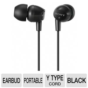 Sony MDREX10LP/BLK Fashion Earbud Headphones