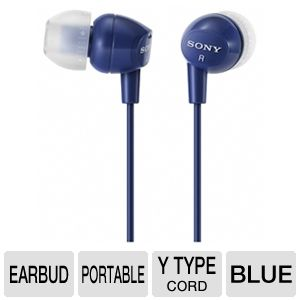 Sony MDREX10LP/DKBLU Fashion Earbud Headphones