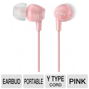 Sony MDREX10LP/PNK Fashion Earbud Headphones