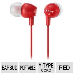 Sony MDREX10LP/RED Fashion Earbud Headphones