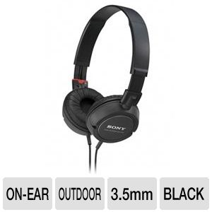 Sony MDRZX100/BLK On-Ear Monitor Headphones