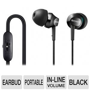 Sony MDREX58V/BLK In-Ear Headphones