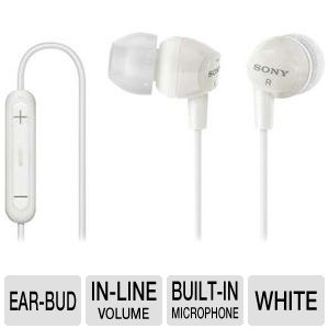 Sony DREX12IP/WHI Earbud Headphones
