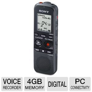 Sony 4GB Memory Digital Voice Recorder