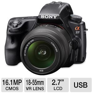 Sony 16MP DSLR Camera with 18-55mm Lens