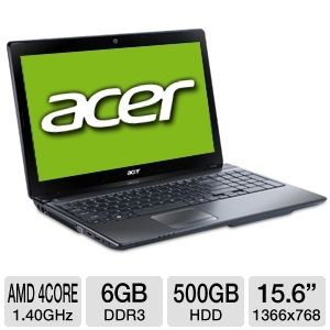 "Acer Aspire A6 6GB 15.6"" Refurbished Notebook PC"