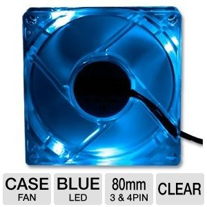 Masscool 80mm Blue LED Fan