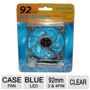 Masscool 92mm Blue LED Case Fan