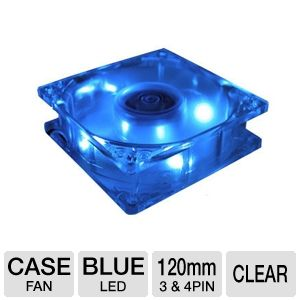 Masscool 120mm Blue LED Case Fan