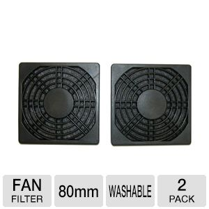 Masscool 80mm ABS Plastic Foam Fan Filter - 2-Pack