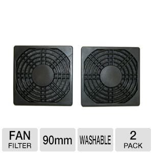 Masscool 90mm ABS Plastic Foam Fan Filter - 2-Pack