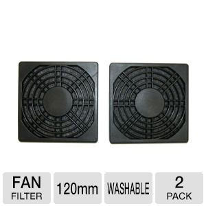 Masscool 120mm ABS Plastic Foam Fan Filter - 2-Pac