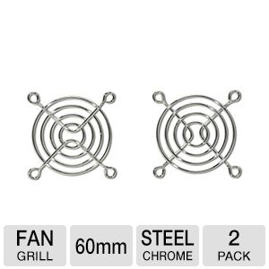 Masscool FG-2P-60MM 60mm Fan Guard/Grill - 2-Pack