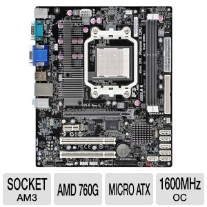 ECS A880LM-M AMD 760G Socket AM3 Motherboard