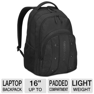 SwissGear Upload Laptop Backpack - Fits Notebook PCs up to 16 ...