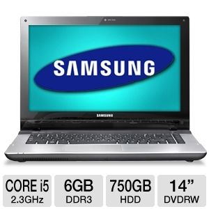 "Samsung Core i5 6GB, 750GB HDD 14"" Notebook REFURB"
