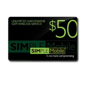 Simple Mobile $50 Airtime Card