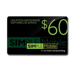 SIMPLE MOBILE $50 AIRTIME PLUS $10 ILD BUNDLE