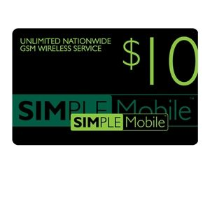 Simple Mobile $10 Airtime Card