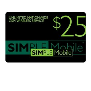 Simple Mobile $25 Airtime Card