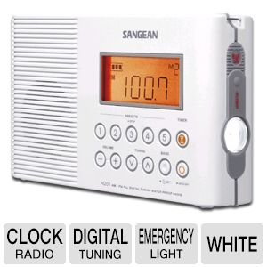 Sangean H-201 AM/FM Clock Radio