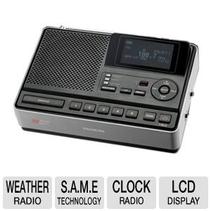 Sangean CL-100 Tabletop Weather Hazard Alert Radio