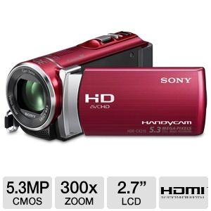 Sony HDRCX210 Handycam HD Camcorder - Red