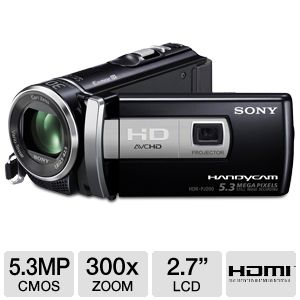 Sony HDR-PJ200/B Full HD Camcorder w/ Proje REFURB